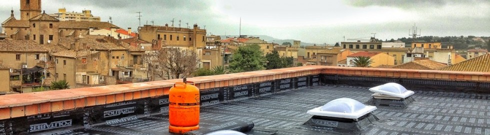 Formació terrassa amb claraboies